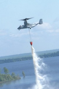 Osprey fire fighting