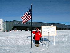US Flag South Pole